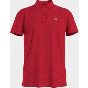 Tommy Jeans Men's Essential Jersey Polo Shirt - Deep Crimson - S Dm0dm10322xnl Mens Tops, Red