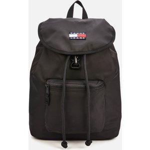 Tommy Jeans Men's Heritage Flap Backpack - Black Am0am07600bds Mens Accessories, Black