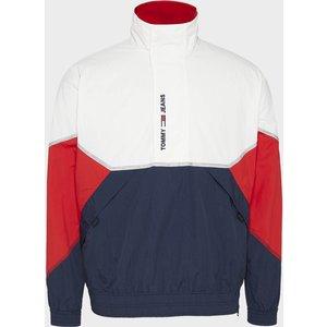 Tommy Jeans Men's Lightweight Popover Jacket - White Multi - Xl Dm0dm10640ybr Mens Outerwear, White