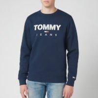 Tommy Jeans Men's Novel Logo Sweatshirt - Black Iris - Xxl Dm0dm07614cbk Mens Tops, Blue