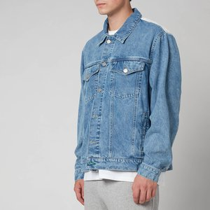 Tommy Jeans Men's Oversized Trucker Jacket - Denim Light - M Dm0dm108431ab General Clothing, Blue