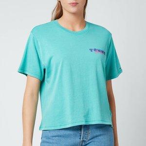 Tommy Jeans Women's Tjw Crop Vintage Tee - Grecian Tile - Xs Dw0dw10435l7g General Clothing, Grey