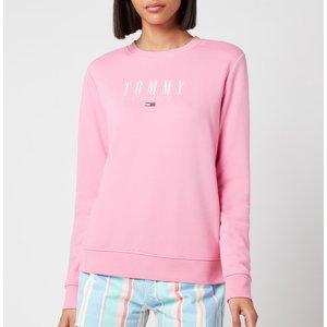 Tommy Jeans Women's Tjw Regular Essential Logo Sweatshirt - Pink Daisy - Xs Dw0dw09918tou Womens Tops, Pink