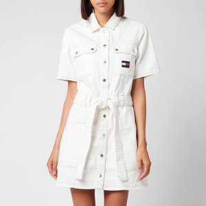 Tommy Jeans Women's Utility Twill Dress - Denim Color - S Dw0dw103241ce General Clothing, White