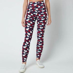 Tommy Sport Women's Rw Aop Legging - Motion Flag - Xs S10s1011560g3 General Clothing, Navy/Red/White