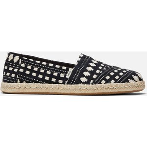 Toms Women's Alpargata Rope Vegan Espadrilles - Black Global Woven - Uk 6 10016246 Womens Footwear, Black