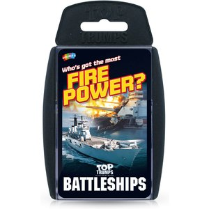 Top Trumps Card Game - Battleships Edition Wm01552 En1 6 Games, Puzzles & Learning