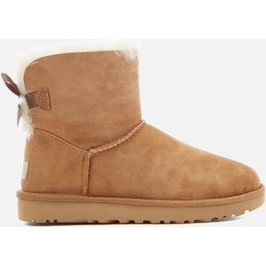 Ugg Women's Mini Bailey Bow Ii Sheepskin Boots - Chestnut - Uk 5 1016501 Che Womens Footwear, Tan