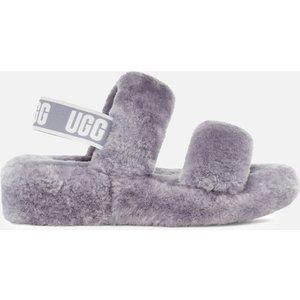 Ugg Women's Oh Yeah Slippers - Soft Amethyst - Uk 8 1107953 Samt Womens Footwear, Grey