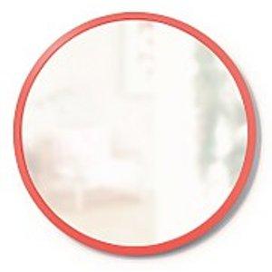 Umbra Hub Round Mirror 45cm - Coral 1013756 180 Home Accessories, Coral