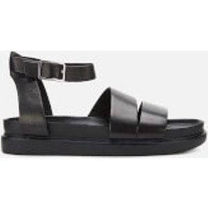 Vagabond Women's Erin Leather Flat Sandals - Black - Uk 4 4932 301 20 Womens Footwear, Black