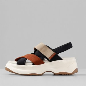 Vagabond Women's Essy Chunky Sandals - Rust Multi - Uk 3 4929 002 79 Mens Footwear, Multi