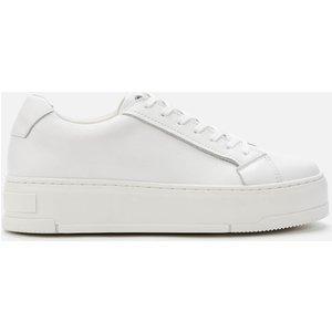 Vagabond Women's Judy Leather Flatform Trainers - White - Uk 3 4924 001 01 Womens Footwear, White