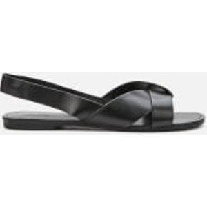 Vagabond Women's Tia Leather Flat Sandals - Black - Uk 6 4331 201 20 Womens Footwear, Black
