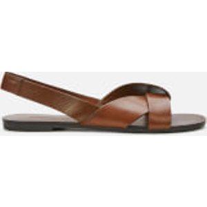 Vagabond Women's Tia Leather Flat Sandals - Cognac - Uk 7 4331 201 27 Womens Footwear, Brown