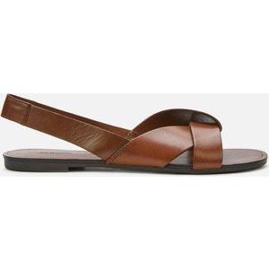 Vagabond Women's Tia Leather Flat Sandals - Cognac - Uk 5 4331 201 27 Womens Footwear, Brown