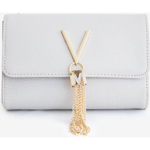 Valentino Bags Women's Divina Small Shoulder Bag - Ghiaccio Vbs1r403g 185 Womens Accessories, Grey