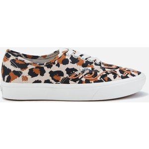 Vans Comfycush Flame Embroidery Authentic Trainers - Leopard/marshmallow - Uk 5 Vn0a3wm747b Womens Footwear, Tan