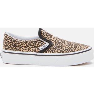 Vans Kids' Classic Slip-on - Leopard/black - Uk 10 Kids Vn0a4butys5 Mens Footwear, Multi