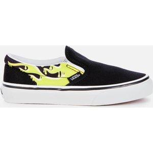 Vans Kids' Classic Slip-on - Slime Flame - Uk 1 Kids Vn0a4but31m Mens Footwear, Multi