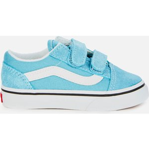 Vans Toddlers' Old Skool Velcro Trainers - Delphinium Blue - Uk 7 Toddler Vn0a38jn33l Mens Footwear, Blue