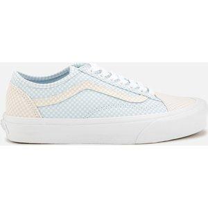 Vans Women's Pastel Checkerboard Old Skool Trainers - Ballad Blue/silver Peony - Uk 6 Vn0a54f44tz Womens Footwear, Blue