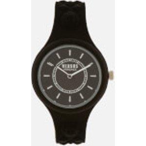 Versus Versace Men's Fire Island Bicolor Silicone Watch - Black/white Spoq20 0018 Mens Watches