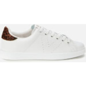Victoria Women's Sustainable Leather Cupsole Trainers - Leopardo - Uk 6 1125104 Womens Footwear, White