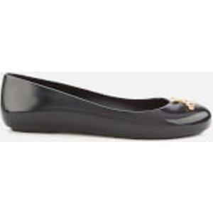 Vivienne Westwood For Melissa Women's Space Love 22 Ballet Flats - Black Cut Out Gold Orb  32642 50919 Womens Footwear, Black