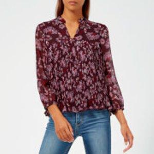 Whistles Women's Pitti Print Blouse - Pink/multi - Uk 8 - Pink Ta549 27814 Mens Tops, Pink