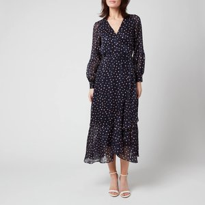 Whistles Women's Satin Stripe Spot Wrap Dress - Blue/multi - Uk 6 De803 32326 Womens Dresses & Skirts, Blue