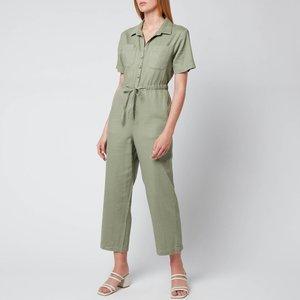 Whistles Women's Tie Detail Jumpsuit - Sage - Uk 10 33238 General Clothing, Blue