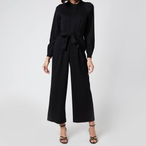 Whistles Women's Tie Front Jumpsuit - Black - Uk 6 Df505 32595 General Clothing, Black
