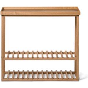 Wireworks Hello Storage Console Table - Oak 30081.27 Home Accessories, Tan
