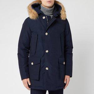 Woolrich Men's Artic Parka Df - Melton Blue - L Wocps2880 Mens Outerwear, Blue
