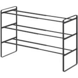 Yamazaki Frame Extendable Shoe Rack 3 Tier - Black 7556 Furniture, Black