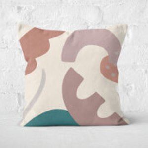 Yasmin Fatollahy Abstract Garden Square Cushion - 50x50cm - Soft Touch Cu 42518 50x50 St Home Accessories