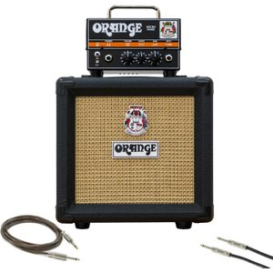 Orange Amps Orange Micro Dark Guitar Amp Pack With Cables Micro Dark Bundle