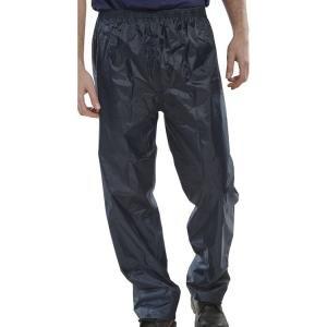 B-dri Weatherproof Trousers Nylon Lightweight L Navy Blue Ref Nbdtnl 166353 Office Supplies