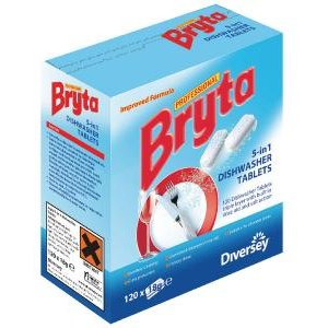 Bryta 5 In 1 Dishwasher Tabs 120pc Pack Of 4 7519448 Dv12911 Office Supplies