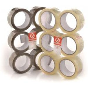 Classmates Packaging Tape Buff 48mm 66m Pack Of 6 He284186 Office Supplies