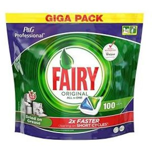 Fairy Professional Dishwasher Capsules All-in-one Original Ref 74639 152408 Office Supplies