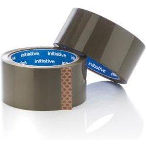Initiative Polypropylene Packaging Tape 48mmx66m Buff Se9177 Office Supplies