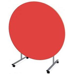 Metalliform Circular Tilt Top Steelfolding Dining Table 1200 X 640mm He48838608d Office Supplies