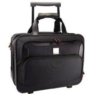 Monolith Deluxe Nylon Wheeled Laptop Case Black 2372 Hm23720 Office Supplies