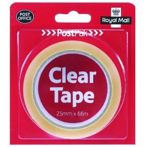 Postpak Clear Sticky Tape 19mm Pack Of 24 9721744 Ub35910 Office Supplies