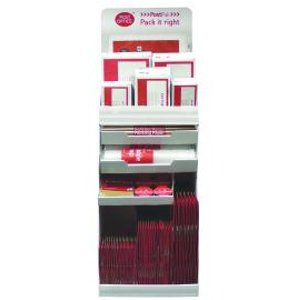 Postpak Red Display Stand And Stock Packaging Fsdu Pof12081 Office Supplies
