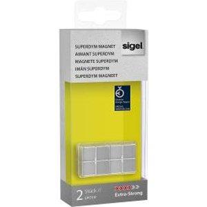 Sigel Magnets Superdym C10 X-strong Cube 20x10x20mm Sl Pack 2 54454sg Exr54454sg Office Supplies