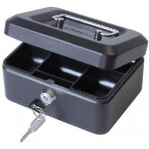 Value 15cm 6  Metal Cash Box Bk Exr14095ca Office Supplies