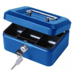 Value 15cm 6  Metal Cash Box Bl Exr14102ca Office Supplies